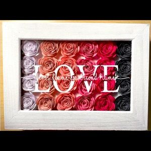 Custom Love Floral Decor - Add your Names!!!